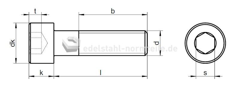 Großartig NIRONORM: Zylinderschraube mit Innensechskant M10x45 A2 DIN912 LA82