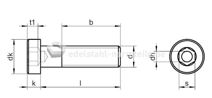 Trendig NIRONORM: Zylinderschraube mit Innensechskant, niedrigem Kopf und  WN04