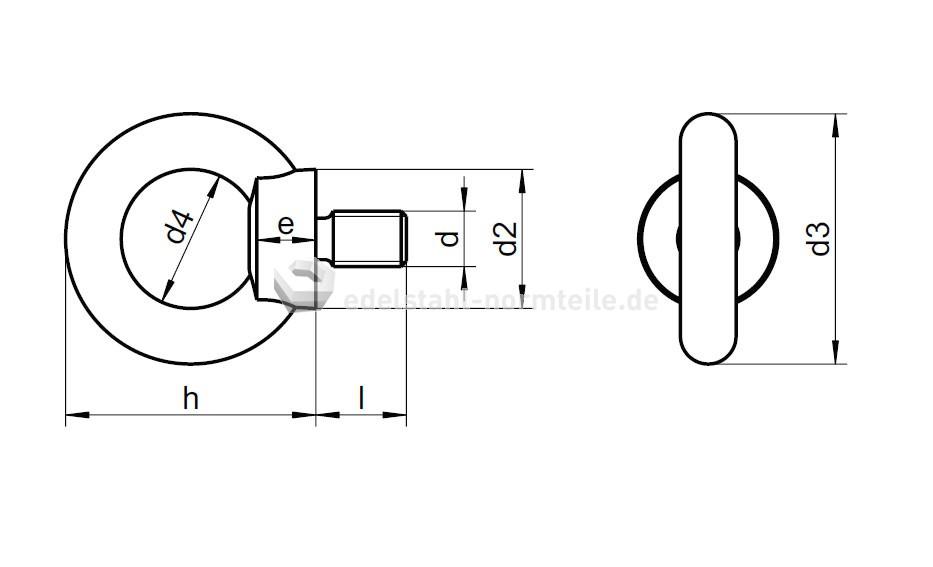 Nironorm Ringschraube M6 Verzinkt Din580